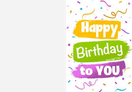 Glitter and gold general greeting birthday card. 2 Free Happy Birthday Card Printables Freebie Finding Mom