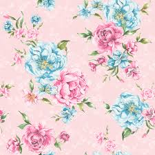 details about flower wallpaper fl pattern josephine leaf motif bright pink blue holden