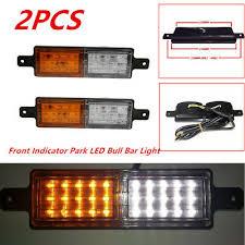 <b>2PCS ABS</b> Front <b>Indicator</b> Park <b>LED</b> Bull Bar <b>Lights</b> Lamp Car Truck ...