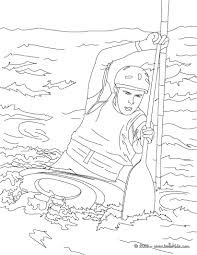 This Canoe Kayak Coloring Page Is