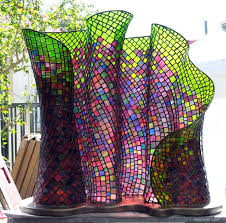 stained glass sculpture modern