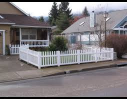 vinyl picket fence front yard. Contemporary Fence Vinyl Picket  Western Fence Company Regarding Front Yard  Ideas With P