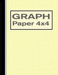 Graph Paper 4x4 Quad Rule 1 4 Inch Squares Notebook Yellow By