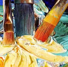 pincel con pintura. cuidado pinceles para pintar al oleo pincel con pintura