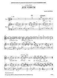 ave verum corpus sheet music karl jenkins ave verum