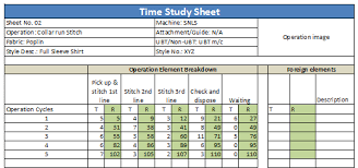 Time Study Excel Templates Step 1 Preparation Arrange Stationery Like Time Study