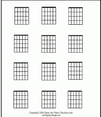 Blank Guitar Chord Chart Print It Out And Fill It In With All The