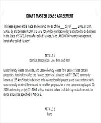 7+ Master Lease Agreement Samples | Sample Templates