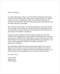Letter Of Recommendation For Nursing School Letter Of Recommendation For Nursing School Angelopenna Info