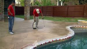 Diy Painted Concrete Floors Painting Outdoor Concrete Porch Floor Apply Thin Finish And