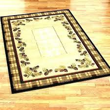 cabin area rugs lodge style log rug lake house 5x7