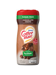 If your goal is weight loss, then your coffee creamer should not contain trans fats, artificial chemicals, excessive sugar, or fillers such as carrageenan. Nestle Coffee Mate Sugar Free Coffee Creamer 10 2 Oz Creamy Chocolate Office Depot