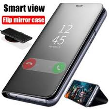 Smart Mirror Flip Case For Samsung Galaxy S8 S9 S10 Plus ... - Vova