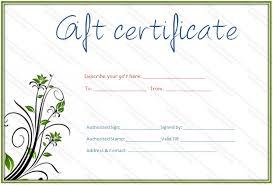 Certificates Printable Free Printable Gift Certificate Template Vastuuonminun