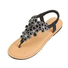 Summer Luxury Designer <b>Rhinestone Sandals</b> Women Flat <b>Shoes</b> ...