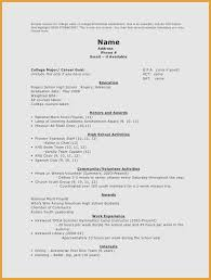 Resume Templates For Highschool Students Enchanting Resume For Highschool Students Best Of 40 Luxury Pictures Of Resume