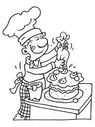 Baker Coloring Page Color Bros