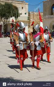 Malta Valletta in Guardia In-Guardia Maltese Knight fort Saint Elmo Stock  Photo - Alamy