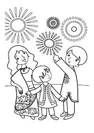 Small Picture A Family Celebrate Diwali Coloring Page NetArt