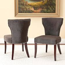 upholstered dining room chair. Upholstered Dining Chairs With Nail Heads Inexpensive Room Chair