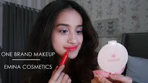 one brand makeup tutorial emina cosmetics fresh daily makeup nadya aqilla indonesia you