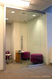 glass office doors view glass partition walls