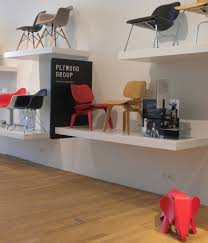 furniture showroom design ideas. one section of the vitrahaus is dedicated entirely to eameses among chairs on display lcw molded plywood lounge desi furniture showroom design ideas