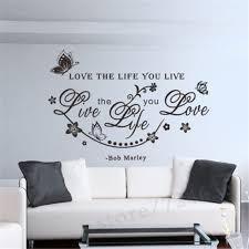 642 20 De Réductionbob Love Anglais Phrase Stickers Muraux Citations Amour La Vie Que Vous Vivez Pour La Maison Chambre Amovible Vigne Sticker