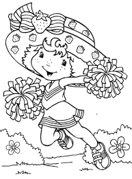 Strawberry Shortcake Cheerleader Coloring Page Free Printable