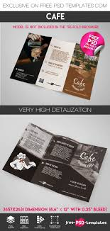 make tri fold brochures free cafe tri fold brochure in psd free psd templates