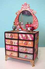 how to: matchbox dresser (link to tutorial) love the colors for a boho  Diy  Dolls House FurnitureMiniature ...
