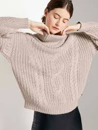 Turtleneck pullover with a <b>knitted pattern</b> - from TOM TAILOR Denim