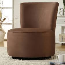 gorgeous round accent chair tribecca home moda brown microfiber modern round swivel chair