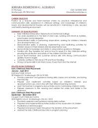 Child Care Resume Sample Impressive Child Care Skills Resumes Engneeuforicco