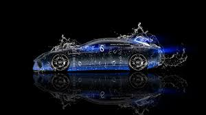 lamborghini estoque water abstract car