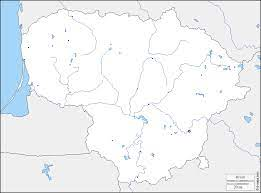 ليتوانيا خريطة مجانية, خريطة خاليه من الفراغ, خريطة الخطوط العريضة, خريطة  القاعدة الحرة حدود, هيدروغرافيا, المدن الرئيسية