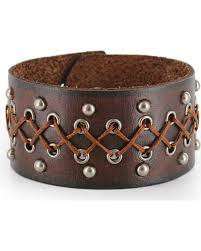 zoomed image moonshine spirit men s wide leather cuff brown