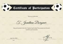 Football Certificate Template Interesting Example Certificate Certificate Contents Sample New Free
