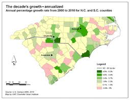 North Carolina Population Chart Carolinas Growth Update Urban Changes Rural Losses Unc
