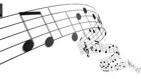 Music Notes Flowing On White Background Seamless Animation Stock