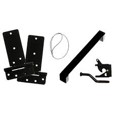Everbilt <b>MODERN</b> DELUXE BLACK GATE KIT <b>5</b>-<b>Piece</b> | The Home ...