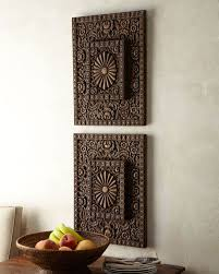 carved wood wall art india