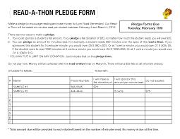Readathon Sponsorship Form Google Search Read A Thon