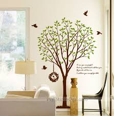 love story birds and tree wall decals