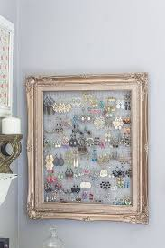 sumptuous jewelry organizer on wall art old picture frames with 47 epic ways to repurpose old picture frames at home