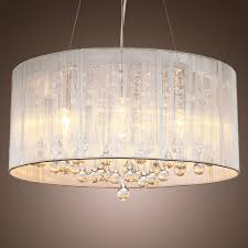 Contemporary Ceiling Light Shades Lightinthebox Modern Silver Crystal Pendant Light In Cylinder Shade Drum Style Home Ceiling Light Fixture Flush Mount Pendant Light Chandeliers