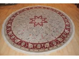 7 ft round persian rug handmade hand knotted wool silk