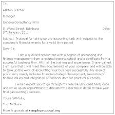 Sample Proposal Letter For Consultancy Services Accounting Proposal Letter Sample Proposals