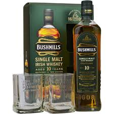 bushmills 10 year old single malt gift set