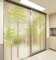 decorative self adhesive static cling stained window custom sliding glass door privacy